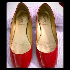 J crew patent Leather ballet shoes 7.5
